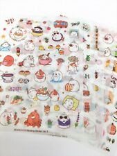 Kawaii Stickers Molang  6 Sheets Diary Journal Scrapbook Planner Supplies