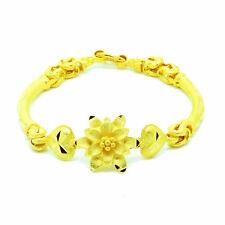 Flower Heart 22K 23K 24K THAI BAHT YELLOW GOLD GP JEWELRY BANGLE BRACELET