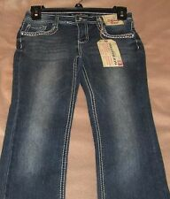 VANILLA STAR Girl's Size 10 Jeans With Adjustable Waist And Sequins~Skinny Boot