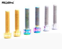 4x RISK TC4 Titanium Screws M4x10//13.5//20mm for Rear derailleur limit DIY Parts