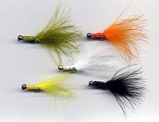 Trout Flies: Jig Head Tadpoles long shank x 5  size 10 (code 503)
