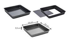Imperdibile stampo crostata quadrato con fondo removibile cm 24x24 antiaderente