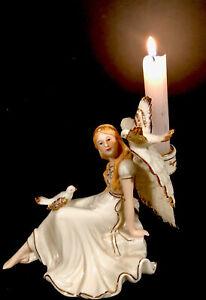 Exquisite porcelain Vintage Angel Candle Holder Fairy