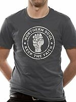 Official Northern Soul - Distressed Fist -  Men's Grey T-Shirt