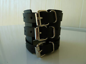 Mens/Womens leather Biker/Skull/Gothic/ quality black bracelets/wrist band, NWT