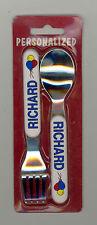 Personalized Fork & Spoon Set ~ RICHARD ~ Stocking Stuffer ~ Balloons ~ Gift