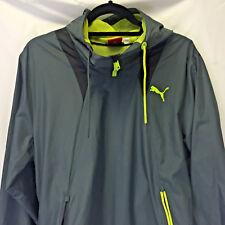 PUMA Mens Faas Windbreaker Gray Green 817301 Size M Medium Pullover Hoodie