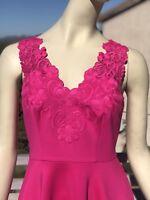 Ted Baker Embroidered Skater Dress In Fuchsia 1&2