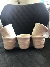 Longaberger Pottery Ivory Votive Candle Holders Set Of 5