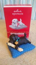 Hallmark 2017 Playful Puppy Love Dog Surprise Mystery BLACK Christmas Ornament