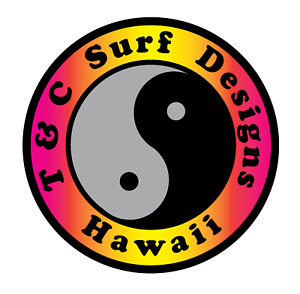 T&C Sticker Town Country Surfboards Hawaii STICKER Ying Yang SURF STICKER HAWAII