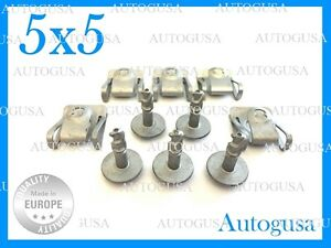 5+5X GENUINE OEM AUDI BMW UNDER ENGINE & GEARBOX UNDERTRAY COVER CLIPS FASTENERS