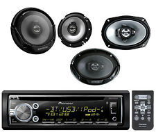 "Kenwood 6x9"" & 6.5"" Speaker Set, Pioneer Bluetooth CD AUX iPod USB Car Receiver"