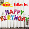 16inch Happy Birthday Letter Foil Balloon Set Decoration Party Wedding Pretty