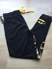Batman Lounge Pants Adult Med Black Yellow 100% Cotton