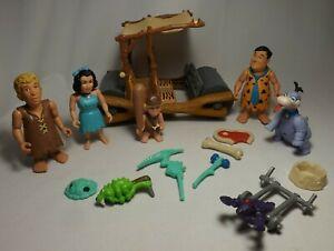 Flintstones Toys Set 1993 RARE Movie Figures Pieces LOT - Plus Flintmobile