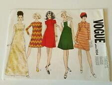 VINTAGE 60s Vogue #1834 LADIES DRESS PATTERN Size 10 Bust 31