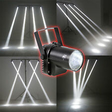 3W LED White Beam Spotlight DJ Bar Dance Xmas Party Stage Light Pinspot Lighting