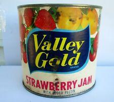 VINTAGE PAPER LABEL VALLEY GOLD STRAWBERRYJAM TIN EMPRESS FOODS LTD VANCOUVER