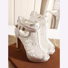 High Heels Stilettos Peep Toe Women's Sandals Ladies Party Shoes Pumps Plus Size