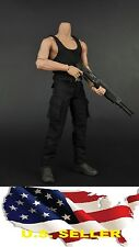 1/6 clothes Rambo Stallone first blood Black Vest pants Sylvester hot toys❶❶US❶❶