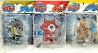 SET 3 ULTRAMAN KAIJU MONSTER ALIEN GAN-Q GUDON ANTLAR WIND UP TOY FUNNY BANDAI