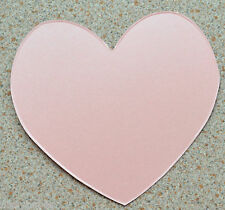"""20 Large Heart Cutouts  4"""" x 4"""" Baby Pink Pearl Card NEW"""
