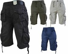Men's Crosshatch Summer Cargo Combat Shorts With Pockets M to 4XL