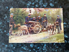 WW1 Belgium Machine Guns Pulled By Harnessed Dogs Real Photo Tinted Postcard