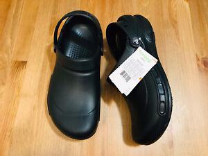 Crocs Bistro clog slip resistant work shoes black men's size 10 womn's size 12