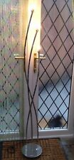 John Lewis Steel Chrome 3 Candle Light Floor Lamp No Shades and Repaired Cable