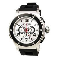 Orefici ORM1C4802 Men's Regata Silver Dial Black Rubber Strap Chronograph Watch
