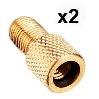 Presta to Schrader adaptor valve bicycle bike car tube pump connector converter