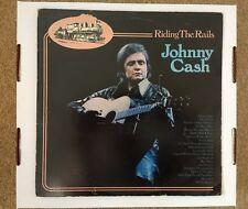 "JOHNNY CASH ""RIDING THE RAILS""1974 DOUBLE 12"" VINYL LP. (American Recordings)"