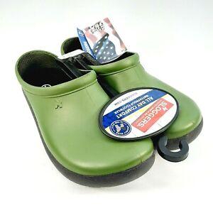 Sloggers Womens Size 6 Premium Garden Clogs Rain Shoes Dark Green Made In USA