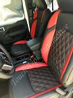 18-21 Jeep Wrangler Jl 2 4 Door Leather Seat Covers Black Red Tekstitch Diamond