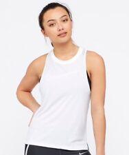 Nike Women's Miler Graphic Tank Top (White) - Small - New ~ 942065 100