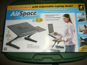 AIR SPACE LAP TOP DESK, Adjustable Laptop Stand With Cooling Fan