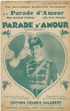 PARTITION MUSICALE  PARADE D' AMOUR  MAURICE CHEVALIER