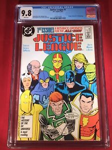 Justice League 1 CGC NM/M 9.8 White Pages 1st Maxwell Lord Wonder Woman Movie!