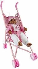 """Lollipop Toys Little Princess African American Doll with Stroller, 16"""" L"""