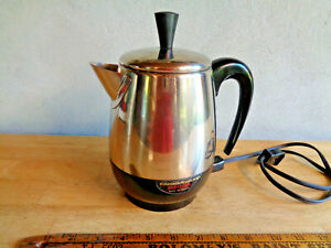 Vintage Farberware Superfast 4 Cup Automatic Coffee Percolator - TESTED - USA