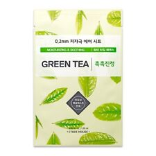 ETUDE HOUSE 0.2 Therapy Air Green Tea Moisturizing Korea Facial Mask Pack 5sheet