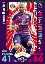 375 Fabio BORINI ITALIA SUNDERLAND.AFC CARDS PREMIER LEAGUE 2017 TOPPS