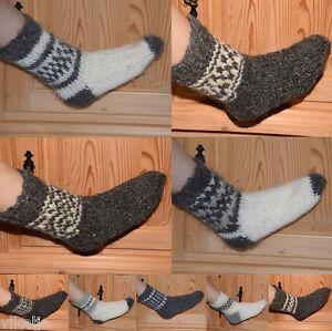 100% Schafwolle Schafwollsocken Socken Strümpfe Handarbeit 100% Naturwolle