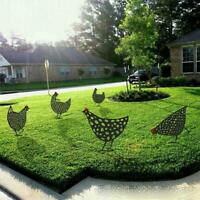 Large Black Chicken Outdoor Garden Statues Lawn Ornament Sculpture Decor
