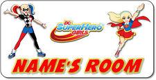 Personalised DC Superhero Girls Aluminium Door Name Plaque