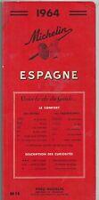 1964 - Guide MICHELIN - ESPAGNE - 190 pages - Français