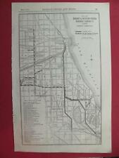 OLD 1920 CHICAGO & WESTERN INDIANA RAILROAD SYSTEM MAP C&WI RR DEPOT LOCATION