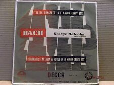 """Decca 10"""" 33/George Malcolm-Harpsichord/Bach/E!!!"""